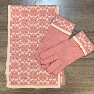 Coach scarf and gloves